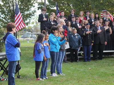 Students from Central Elementary School and the Kansas School for the Deaf led The Pledge of Allegiance