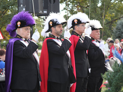 Knights of Columbus Honor Guard Assembly No. 4131 participated in the presentation of memorial wreaths