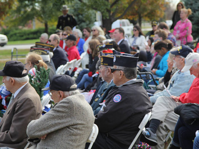 Attendees at the 2016 Veterans Day Observance.