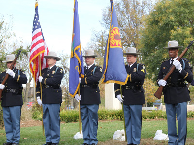 The Johnson County Sheriff's Office Honor Guard presented the Colors